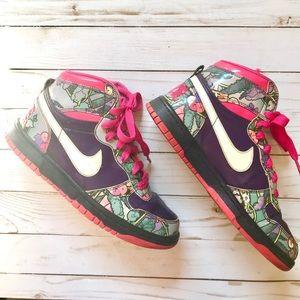 Nike Grand High Dunk Purple Pink Hi Tops